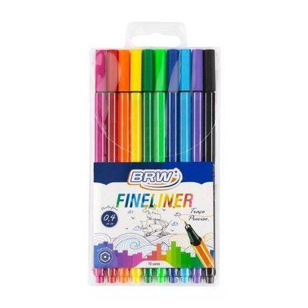 Caneta Fineliner 0,4mm 10 Cores BRW