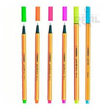 Kit Caneta Stabilo com 6 Cores Neon 0,4mm
