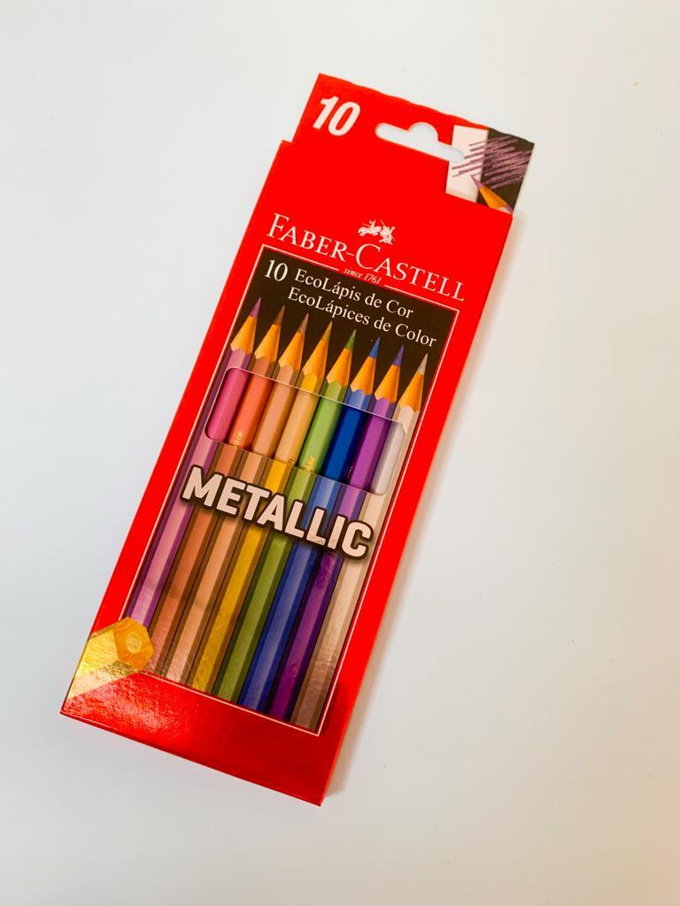 Lápis 10 Cores Metálicas Faber Castell