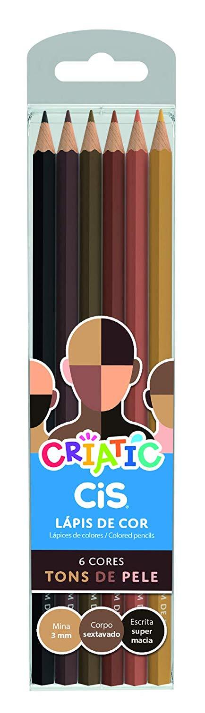 Lápis  6 cores Cis Criatic Tons de Pele