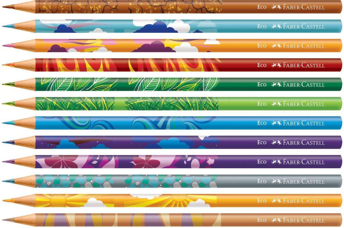 Lápis de Cor Ecolápis 12 cores Misturinha Mix Faber Castell
