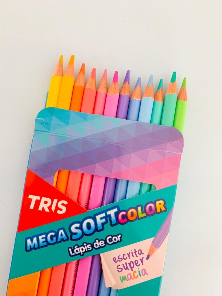 Lápis 12 Cores Tons Pastéis TRIS