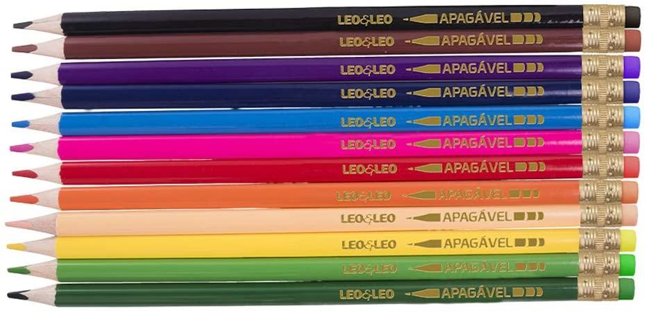Lápis Leo&Leo12 Cores Apagável