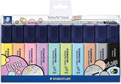 Marcador Staedtler TextSurfer Pastel 10 Cores