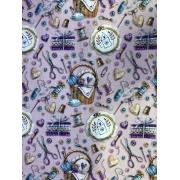 Tecido Tricoline Coleção Digital Costurinha 2 - 50cm x 1,50m