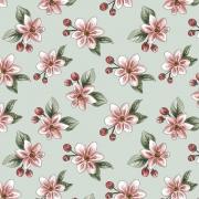 Coleção Digital Red Blossom 8  - 50CM x 1,50M