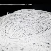 ELASTICO ROLIÇO BRANCO 2MM - Pacote com 5 metros