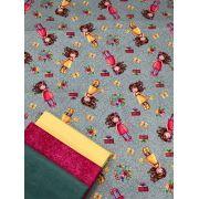 Kit de Tecido Tricoline 100% Algodão Little Girl 50x75cm