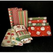 Kit de Tecido Tricoline Coleção Natal - 50x75cm