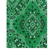 Tecido Tricoline Bandana Verde - 50x75CM
