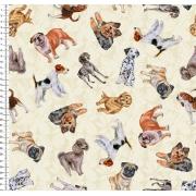 Tecido Cachorro Grande 0,50cm x 1,50M