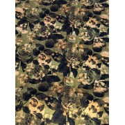 Tecido Caveira Camuflada  50 x 1,50M