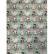 Tecido Tricoline Babys Animals  - 50CM x 1,50M