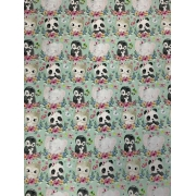 Tecido Tricoline Babys Animals - 50x75CM