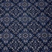 Tecido Tricoline Bandana Azul Marinho 1M X 1,50M