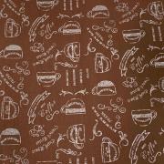 Tecido Tricoline Café Marrom 1M X 1,50M