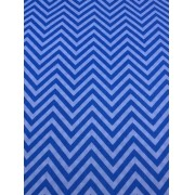 Tecido Tricoline Chevron Azul Claro 1M X 1,50M