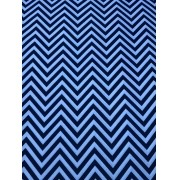 Tecido Tricoline Chevron Azul Marinho 1M X 1,50M