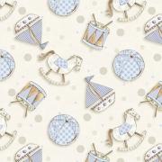 Tecido Tricoline Coleção Bebê Azul #1 - 0,50cm x 1,50M