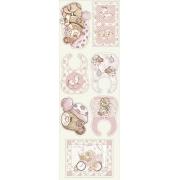 Tecido Tricoline Coleção Bebê Rosa Painel - 0,50cm x 1,50M
