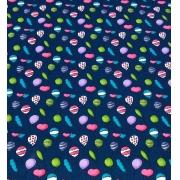 Tecido Tricoline Coleção Coloridinho Balão Azul 50cm x 75cm