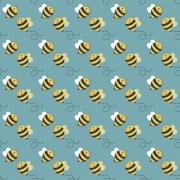 Tecido Tricoline Coleção Honey Bee #3 - 0,50CM X 1,50CM
