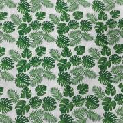 Tecido Tricoline Folhas  1M X 1,50M