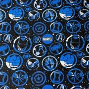 Tecido Tricoline Marvel Azul - 0,50cm X 0,70cm