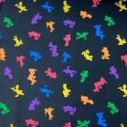 Tecido Tricoline Mickey Colorido - 0,50cm X 0,70cm