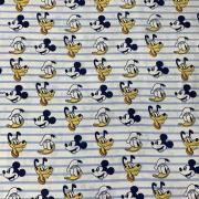 Tecido Tricoline Mickey e Turma - 0,50cm X 0,70cm