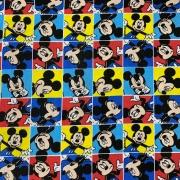 Tecido Tricoline Mickey Quadradinho - 0,50cm X 0,70cm