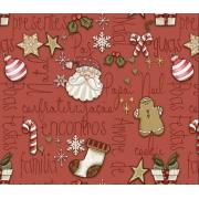Tecido Tricoline Natal #03 - 50x75CM