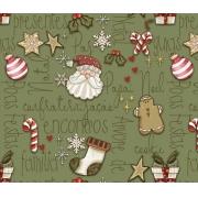 Tecido Tricoline Natal #04 - 50x75CM