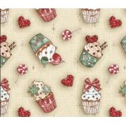 Tecido Tricoline Natal #06 - 50x75CM