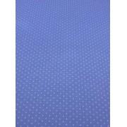 Tecido Tricoline Poá Médio Azul Bebê  1M X 1,50M