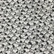 Tecido Tricoline Snoopy Branco - 0,50cm x 0,70cm