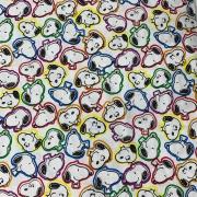 Tecido Tricoline Snoopy Colorido #2 - 0,50cm x 0,70cm