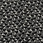 Tecido Tricoline Snoopy Preto - 0,50cm x 0,70cm