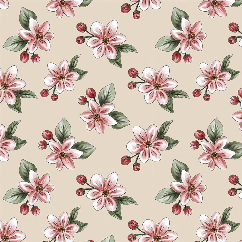 Coleção Digital Red Blossom 12  - 50CM x 1,50M
