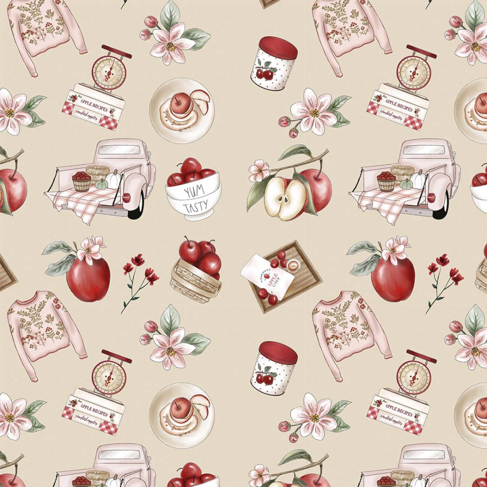 Coleção Digital Red Blossom 9  - 50CM x 1,50M