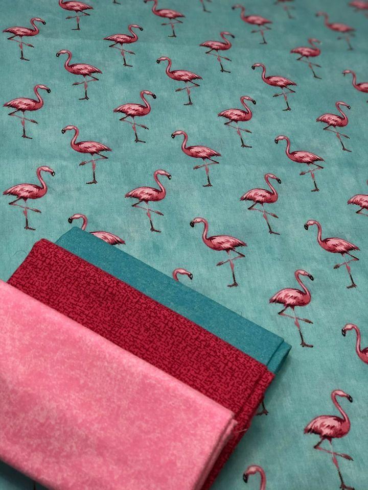 Kit de Tecido Flamingo