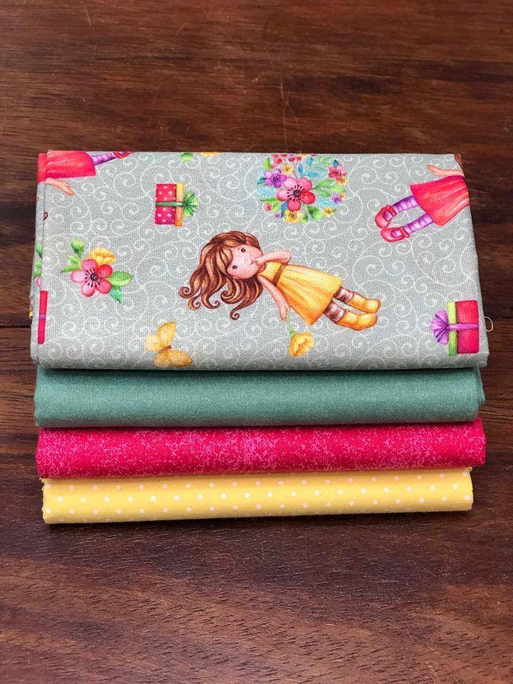 Kit de Tecido Little Girl