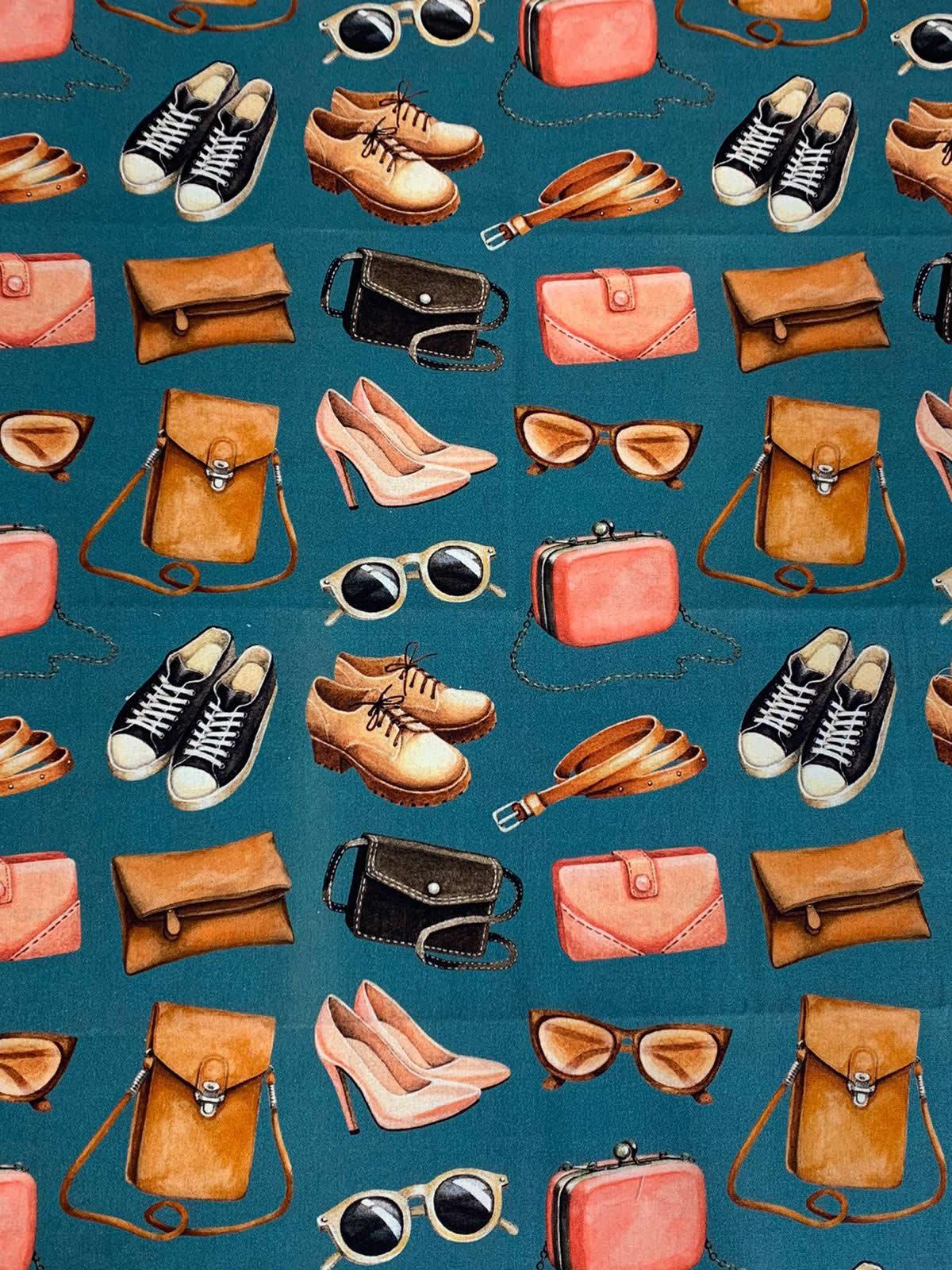Tecido Tricoline Bolsas e Sapatos - 50 x 1,50M