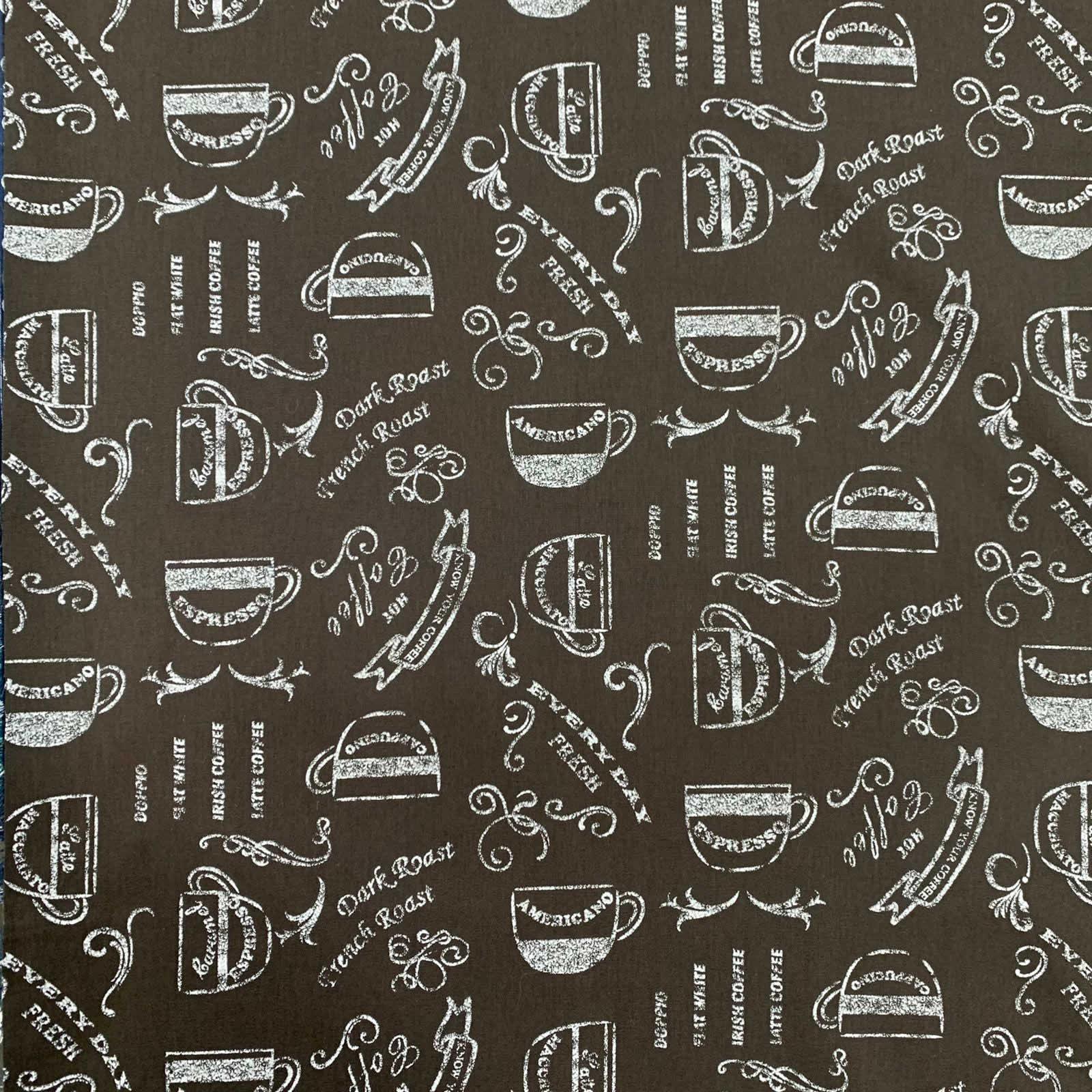 Tecido Tricoline Café Preto 1M X 1,50M