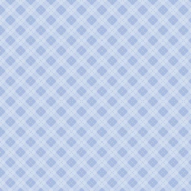 Tecido Tricoline Coleção Bebê Azul #4 - 0,50cm x 1,50M