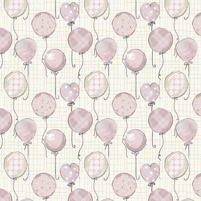Tecido Tricoline Coleção Bebê Rosa #3 - 0,50cm x 1,50M