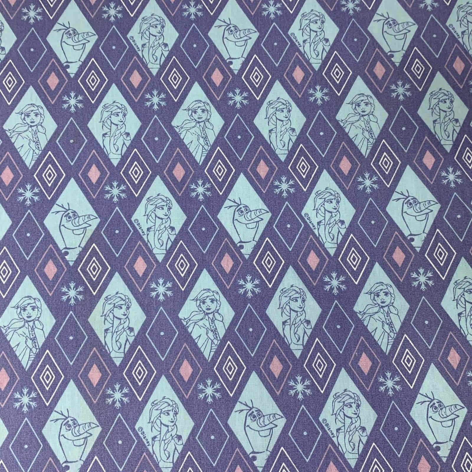 Tecido Tricoline Frozen - 0,50cm x 0,70cm