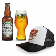 Combo cerveja Weiss Füder IPA 1 garrafa + 1 copo + 1 boné