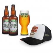 Combo cerveja Weiss Füder IPA 2 garrafas + 1 copo + 1 boné
