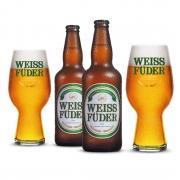 Combo cerveja Weiss Füder IPA 2 garrafas + 2 copos